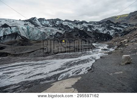 Svinafellsjokull Glacier, Part Of Vatnajokull Glacier. Skaftafel National Park On Iceland