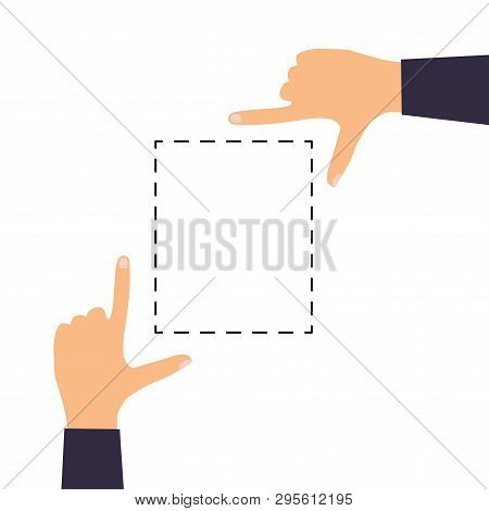Hand Icons Showing Commonly Used Multi-touch Gestures For Touchscreen Tablets Or Smartphones. Flat D