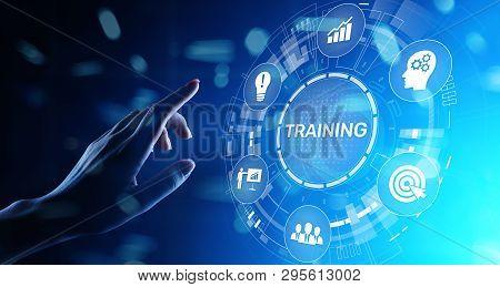 Training Online Education Webinar Personal Development Motivation E-learning Business Concept On Vir