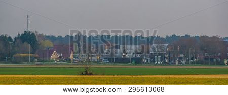 Small Rural Dutch Village, Rucphen, North Brabant, The Netherlands, Classical Small Village