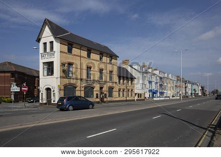 Editorial Swansea, Uk - April 12, 2019: Oystermouth Road, The A4067, Known For Bed And Breakfast Acc