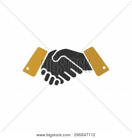 Shaking Hands Icon Isolated On White Background. Shaking Hands Icon Simple Sign. Shaking Hands Icon