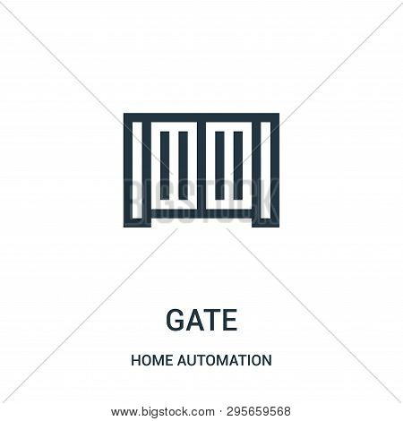 Gate Icon Isolated On White Background From Home Automation Collection. Gate Icon Trendy And Modern
