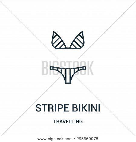 Stripe Bikini Icon Isolated On White Background From Travelling Collection. Stripe Bikini Icon Trend