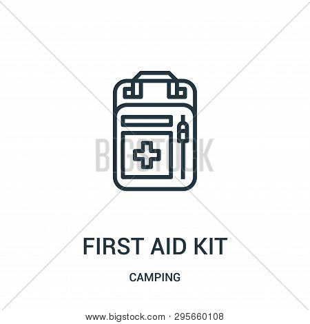First Aid Kit Icon Isolated On White Background From Camping Collection. First Aid Kit Icon Trendy A