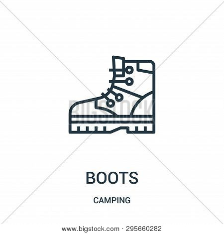 Boots Icon Isolated On White Background From Camping Collection. Boots Icon Trendy And Modern Boots