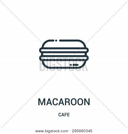 Macaroon Icon Isolated On White Background From Cafe Collection. Macaroon Icon Trendy And Modern Mac