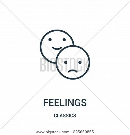 Feelings Icon Isolated On White Background From Classics Collection. Feelings Icon Trendy And Modern