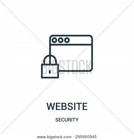 Website Icon Isolated On White Background From Security Collection. Website Icon Trendy And Modern W