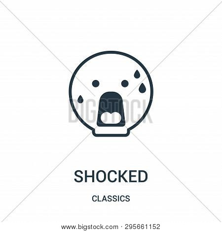 Shocked Icon Isolated On White Background From Classics Collection. Shocked Icon Trendy And Modern S