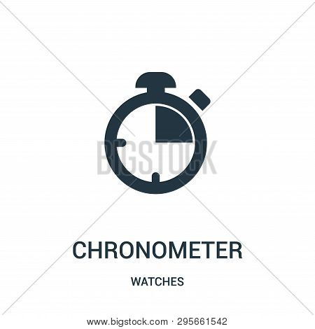 Chronometer Icon Isolated On White Background From Watches Collection. Chronometer Icon Trendy And M