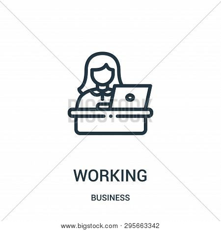 Working Icon Isolated On White Background From Business Collection. Working Icon Trendy And Modern W