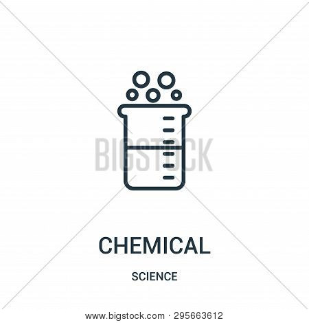 Chemical Icon Isolated On White Background From Science Collection. Chemical Icon Trendy And Modern