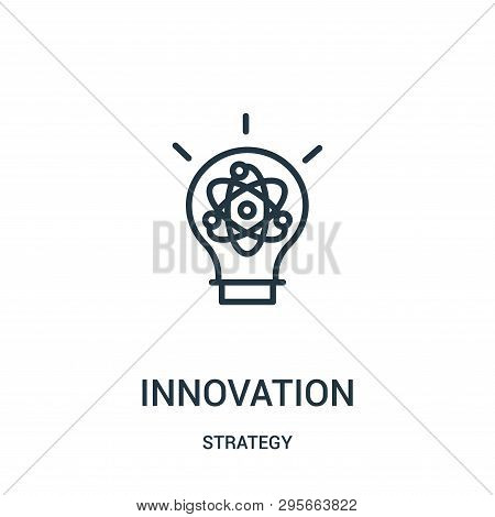 Innovation Icon Isolated On White Background From Strategy Collection. Innovation Icon Trendy And Mo
