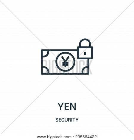 Yen Icon Isolated On White Background From Security Collection. Yen Icon Trendy And Modern Yen Symbo