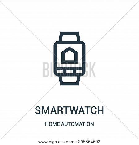 Smartwatch Icon Isolated On White Background From Home Automation Collection. Smartwatch Icon Trendy
