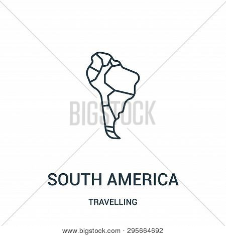 South America Icon Isolated On White Background From Travelling Collection. South America Icon Trend