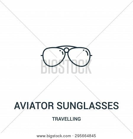 Aviator Sunglasses Icon Isolated On White Background From Travelling Collection. Aviator Sunglasses