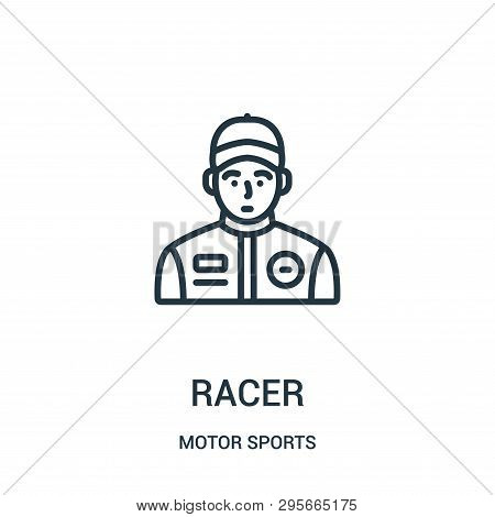 Racer Icon Isolated On White Background From Motor Sports Collection. Racer Icon Trendy And Modern R