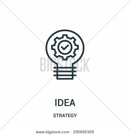Idea Icon Isolated On White Background From Strategy Collection. Idea Icon Trendy And Modern Idea Sy