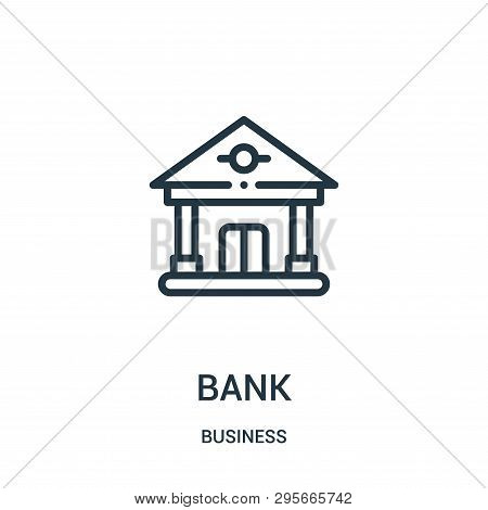 Bank Icon Isolated On White Background From Business Collection. Bank Icon Trendy And Modern Bank Sy