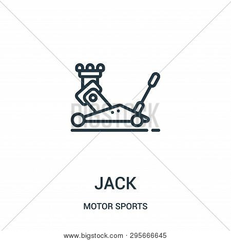 Jack Icon Isolated On White Background From Motor Sports Collection. Jack Icon Trendy And Modern Jac