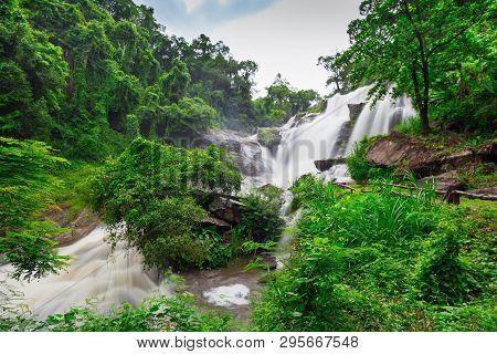 Mae Klang Waterfall In Doi Inthanon National Park, Chiang Mai, Thailand