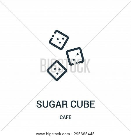 Sugar Cube Icon Isolated On White Background From Cafe Collection. Sugar Cube Icon Trendy And Modern