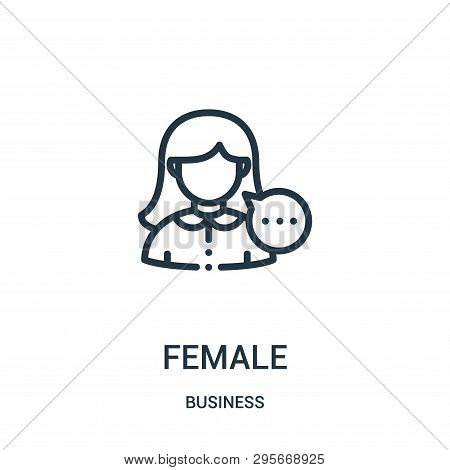 Female Icon Isolated On White Background From Business Collection. Female Icon Trendy And Modern Fem