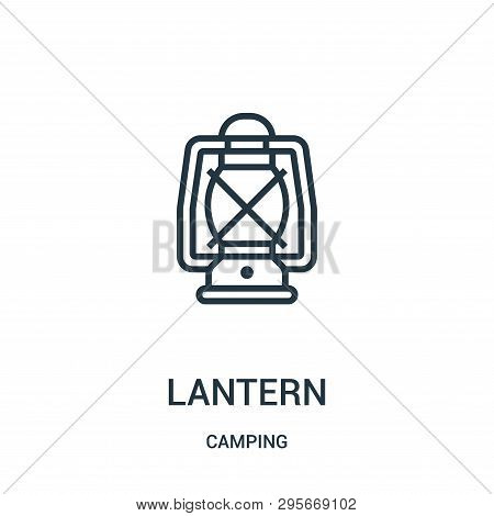 Lantern Icon Isolated On White Background From Camping Collection. Lantern Icon Trendy And Modern La