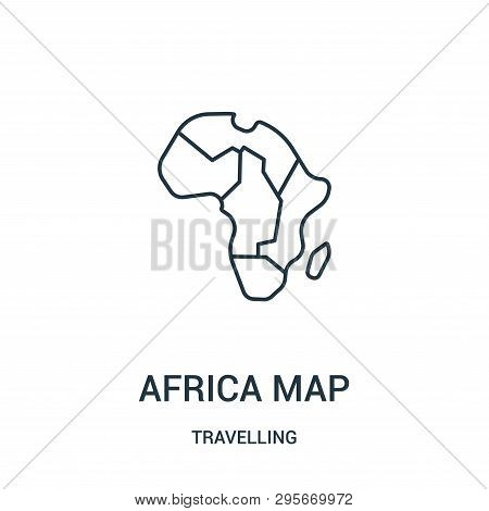 Africa Map Icon Isolated On White Background From Travelling Collection. Africa Map Icon Trendy And