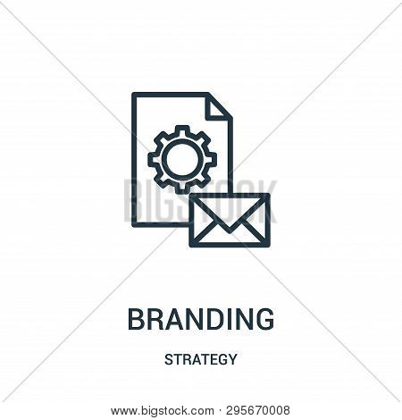 Branding Icon Isolated On White Background From Strategy Collection. Branding Icon Trendy And Modern