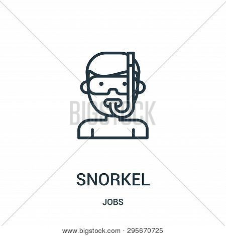 Snorkel Icon Isolated On White Background From Jobs Collection. Snorkel Icon Trendy And Modern Snork