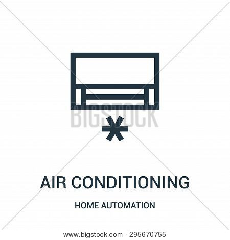 Air Conditioning Icon Isolated On White Background From Home Automation Collection. Air Conditioning