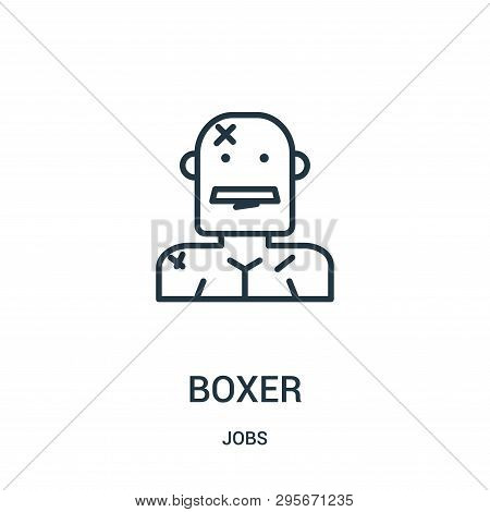 Boxer Icon Isolated On White Background From Jobs Collection. Boxer Icon Trendy And Modern Boxer Sym