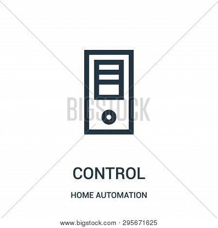 poster of control icon isolated on white background from home automation collection. control icon trendy and modern control symbol for logo, web, app, UI. control icon simple sign. control icon flat vector illustration for graphic and web design.