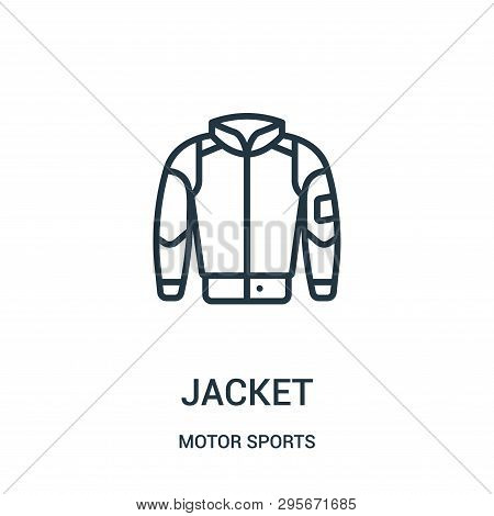 Jacket Icon Isolated On White Background From Motor Sports Collection. Jacket Icon Trendy And Modern