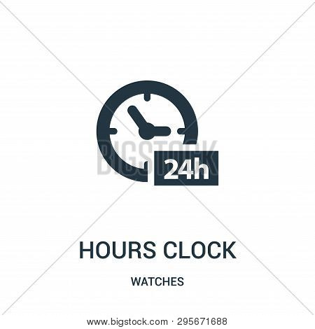 Hours Clock Symbol Icon Isolated On White Background From Watches Collection. Hours Clock Symbol Ico