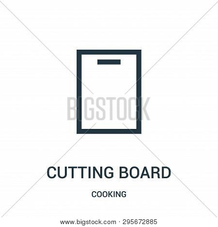 Cutting Board Icon Isolated On White Background From Cooking Collection. Cutting Board Icon Trendy A