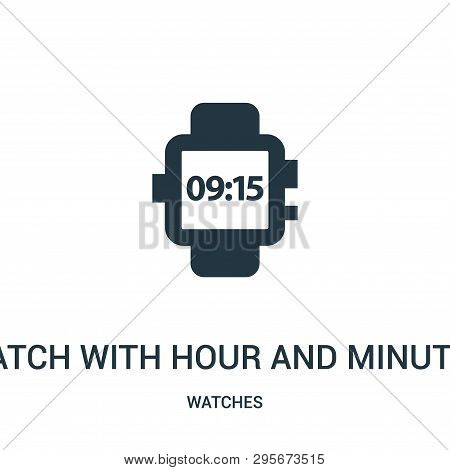 Watch With Hour And Minutes Numbers Icon Isolated On White Background From Watches Collection. Watch