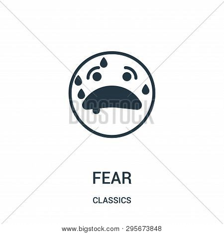Fear Icon Isolated On White Background From Classics Collection. Fear Icon Trendy And Modern Fear Sy