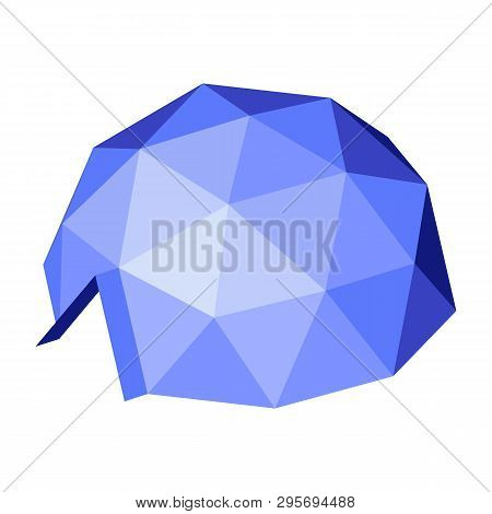 Geodesic Dome. Vector Isometric Icon. Design Element For Games, Apps, Websites, Maps Etc. Isolated O