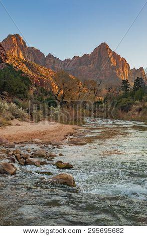 The Scenic Landscape Of Zion National Park Utah