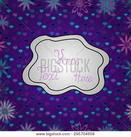Vector Texture. Doodles On A White, Blue And Violet Colors. Illustration. Seamless Pattern Beautiful