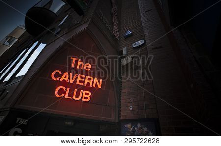 Liverpool, Merseyside, Uk - 24th June 2014 - Entrance And Signage To The Famous Cavern Club In Mathe