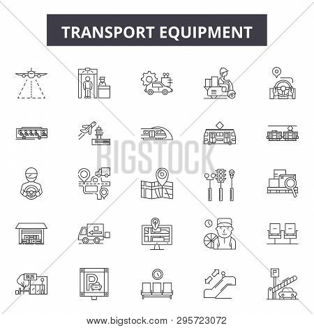 Equipment Equipment Line Icons, Signs Set, Vector. Equipment Equipment Outline Concept, Illustration