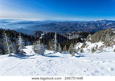 Olt River And Buila Vanturarita Mountain Panoramic View From Cozia Peak