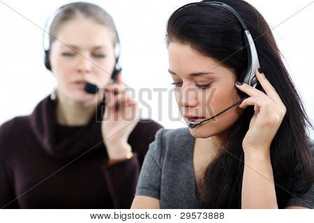 Business women with headset