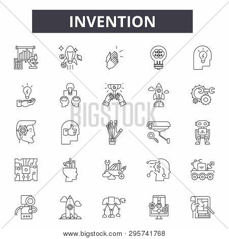 Invention Line Icons, Signs Set, Vector. Invention Outline Concept, Illustration: Invention, Innovat
