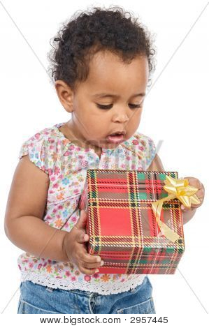 Baby With A Gift Box